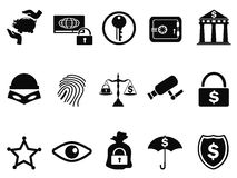 Bank security icons set. Isolated bank security icons set from white background Stock Image