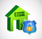 Bank security protection illustration design Stock Photo