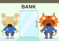 Bank security Stock Image