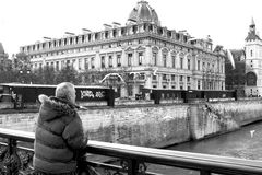 Bank of the Seine in Paris Royalty Free Stock Images
