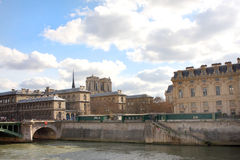 Bank of the Seine in Paris Stock Photography