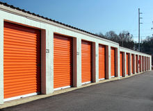 Bank of Self Storage Units Stock Photo