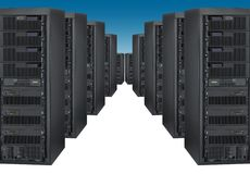 Bank of servers Stock Image