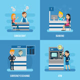 Bank Service Flat Concept Stock Photo