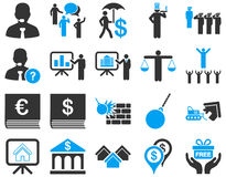 Bank service and people occupation icon set Royalty Free Stock Images