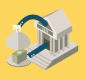 Bank serving Money. business concept design. Stock Photo
