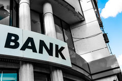 Bank Sign Stock Image