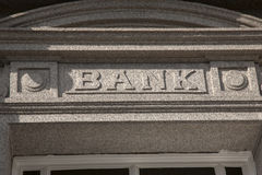 Bank Sign Stock Photos