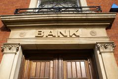 Bank sign Stock Photography