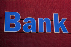 Bank sign on LED board Stock Images