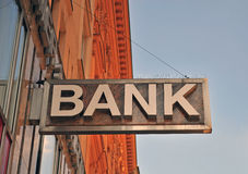 The bank sign Royalty Free Stock Photography