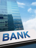 Bank Signboard Stock Photos