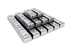 Bank Silver Bars Royalty Free Stock Photography