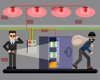 Bank som hackar det säkra brottsplatssäkerhetssystemet Royaltyfria Foton