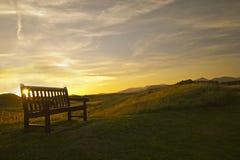 Bank-Sonnenuntergang Lizenzfreie Stockbilder