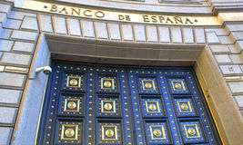 Bank of Spain entrance Stock Images