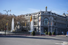 Bank of spain in madrid Stock Photo