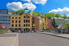 Bank Sparkasse at Promenade in Karlovy Vary Royalty Free Stock Image