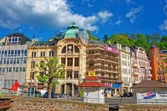 Bank Sparkasse at Promenade Karlovy Vary Stock Photos