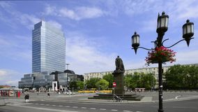 Bank Square in Warsaw, Poland Stock Images