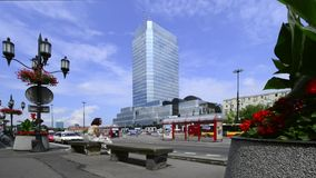 Bank Square in Warsaw, Poland Stock Image