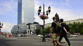 Bank Square in Warsaw, Poland Royalty Free Stock Image