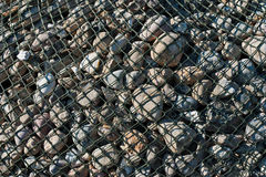 Bank stabilization material. At Tetenbueller harbor, North Frisia Stock Photography