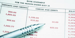 Bank Statement Royalty Free Stock Image
