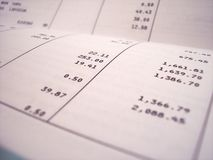 Bank statement Royalty Free Stock Photos