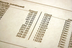 Bank Statement stock images