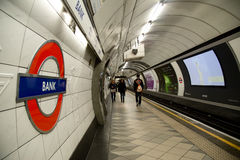 Bank station Royalty Free Stock Photography