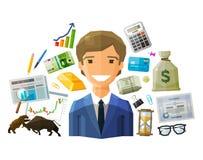 Bank, stock exchange, business vector logo design Royalty Free Stock Photography