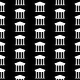 Bank symbol seamless pattern Royalty Free Stock Photo