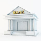 Bank symbolen 3d royaltyfri illustrationer