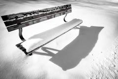 Bank an Tag 121 des verschneiten Winters Lizenzfreie Stockfotografie