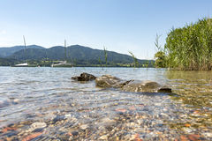 Bank of the Tegernsee in Bavaria Stock Photography