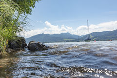 Bank of the Tegernsee in Bavaria Royalty Free Stock Images