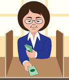 Bank Teller Royalty Free Stock Photography
