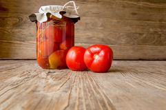Bank of tomtatoes Royalty Free Stock Images