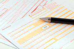 Bank transfer forms Stock Images