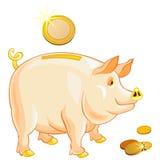 bank ukuwać nazwę prosiątko złocistego świniowatego wektor ilustracja wektor