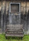 Bank und Fenster Stockfotografie