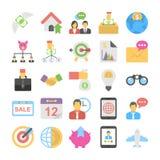Bank-und Finanzwesen farbige Ikonen 7 Lizenzfreie Stockfotos
