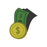 Bank-und Münzen-Design-Vektor Stockbild