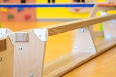 Bank upside down in indoor children's playground Stock Images