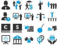 Bank usługa i ludzie zajęcie ikony setu Obrazy Royalty Free