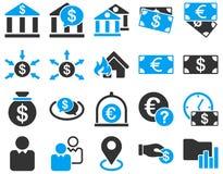 Bank usługa i handel ikony biznesowy set Obraz Stock