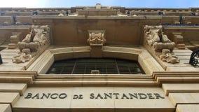 Bank van de Bouw van Santander in Santander, Spanje stock foto