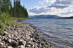 Bank van de meren op het Putorana-plateau Stock Afbeeldingen