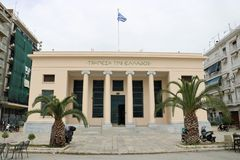 Bank van Griekenland, Volos stock fotografie
